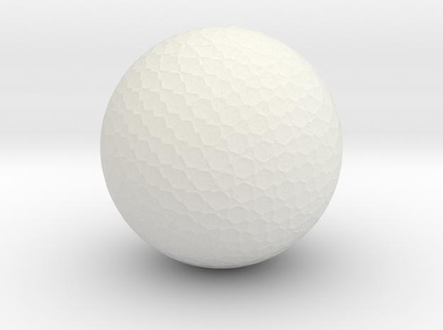 Golf Ball in White Natural Versatile Plastic