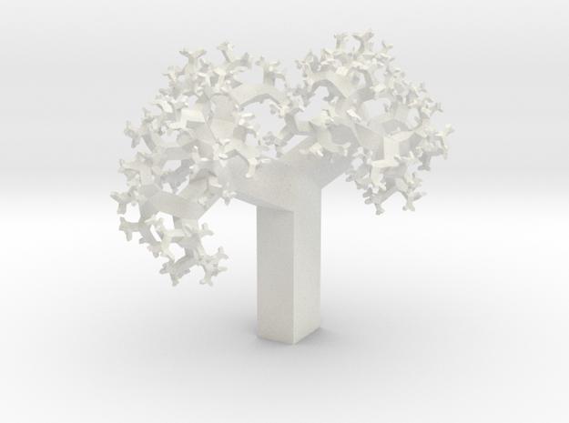 Skew Fractal Tree (Wild) in White Natural Versatile Plastic