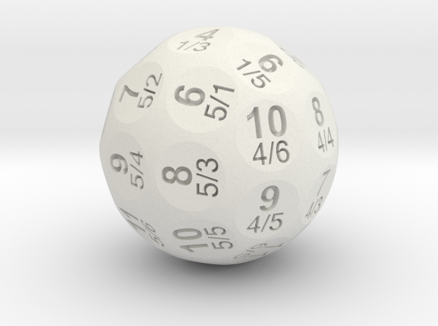 D36 Truncated Individual Numbers Totaled in White Natural Versatile Plastic