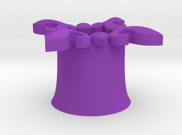 Magestic Earring - 00g in Purple Processed Versatile Plastic