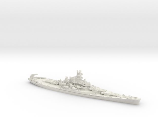 1/1800 US BB Indiana[1942] in White Strong & Flexible