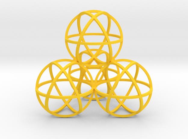 Sphere Tetrahedron 3d printed