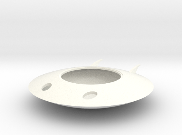 Spaceman Spiff Spaceship in White Processed Versatile Plastic