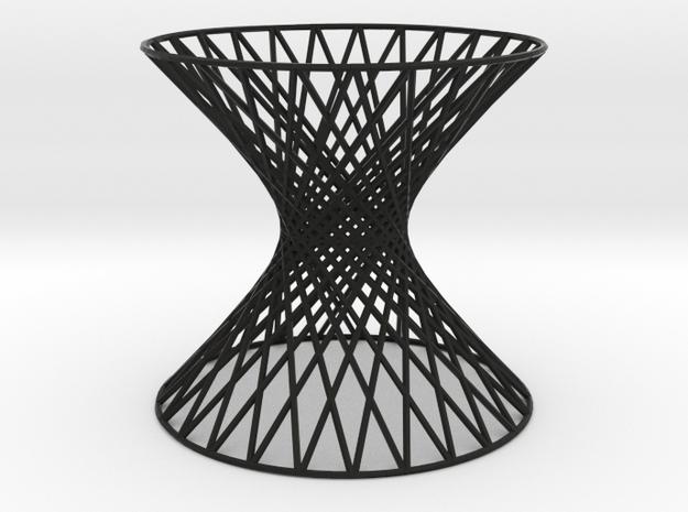 Doubly Ruled Hyperboloid 3d printed