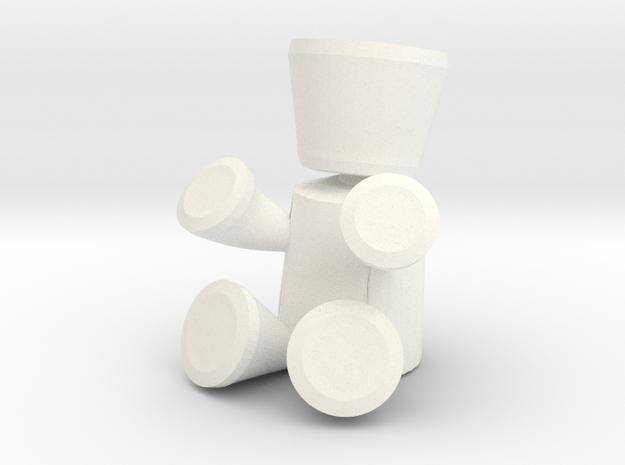 FutureBot Small in White Processed Versatile Plastic