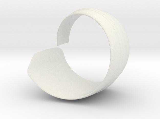 Spiral1 size9 in White Natural Versatile Plastic