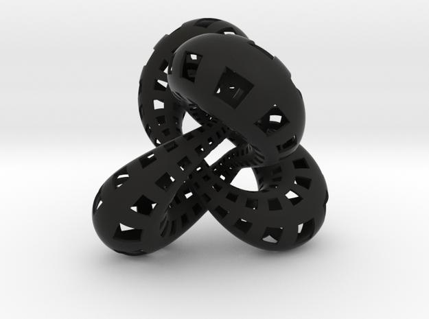 Symmetric figure 8 knot 3d printed