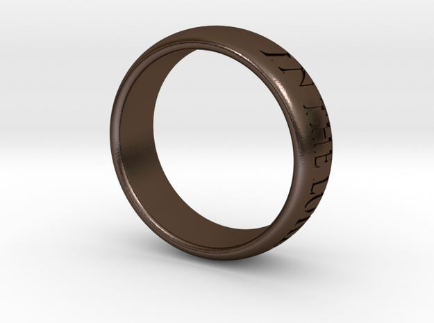 Trust in the Lord MkII - Ring 3d printed