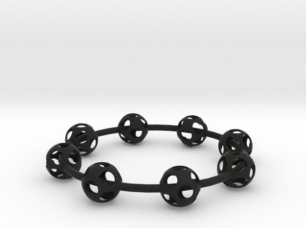 Heart Ball Bracelet 3d printed