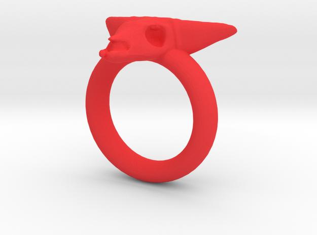 Skull Ring D16 3d printed
