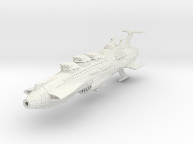 EDSF Battleship Rodney Mk 2 in White Natural Versatile Plastic