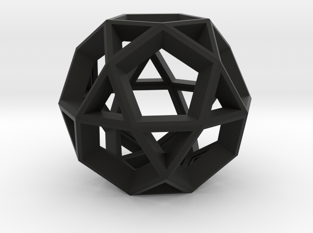 Icosidodecahedron Pendant 3d printed