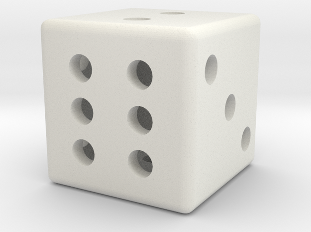 Hollow dice 3d printed