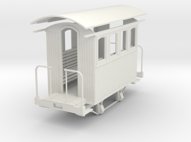 1/35 4 wheel passenger car (4 window)  in White Strong & Flexible