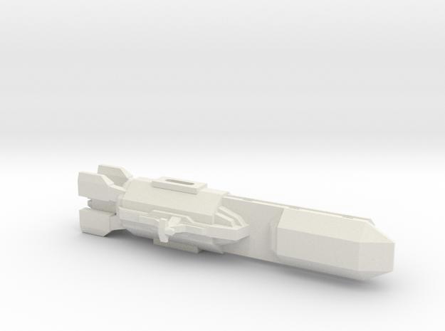 Crucero+espacial in White Natural Versatile Plastic
