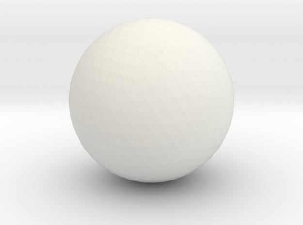 Cueball in White Natural Versatile Plastic