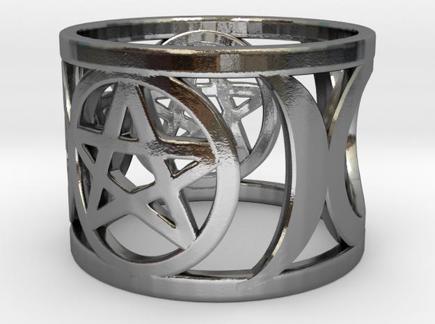 Pentagram and Goddess Symbol Ring