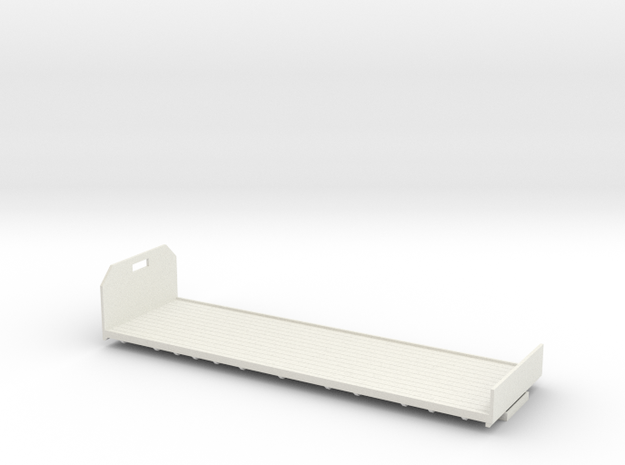1:43 Flatbed body for use with Foden 8 wheeler in White Natural Versatile Plastic