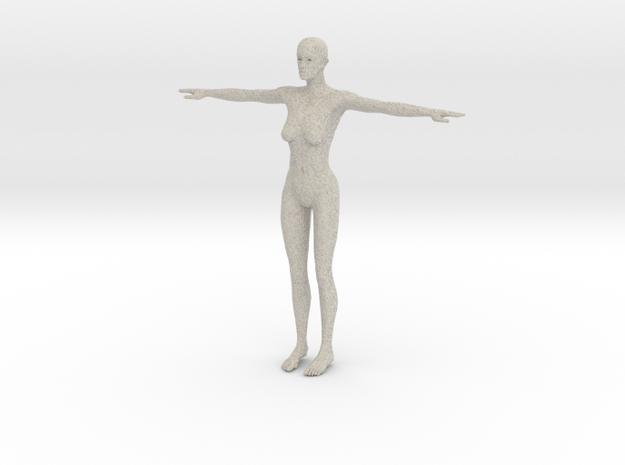 Makehuman Opensource Female 3d printed