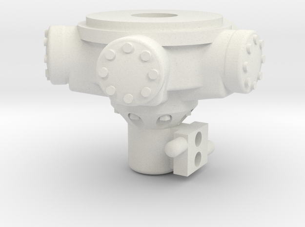 Staffa motor in White Natural Versatile Plastic