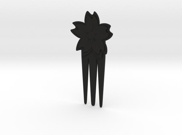 Hair pins sakura flower 3d printed