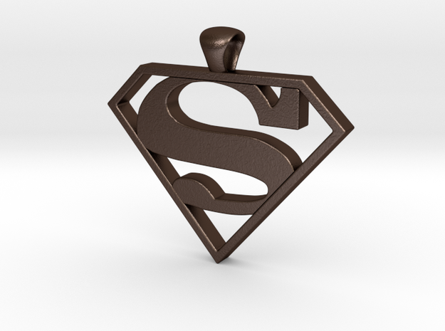 superman pendant 3d printed