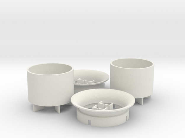 25mm Turbine Kit x2 in White Natural Versatile Plastic