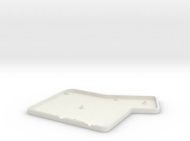 ErgoDox Bottom Right Case (flat) in White Natural Versatile Plastic
