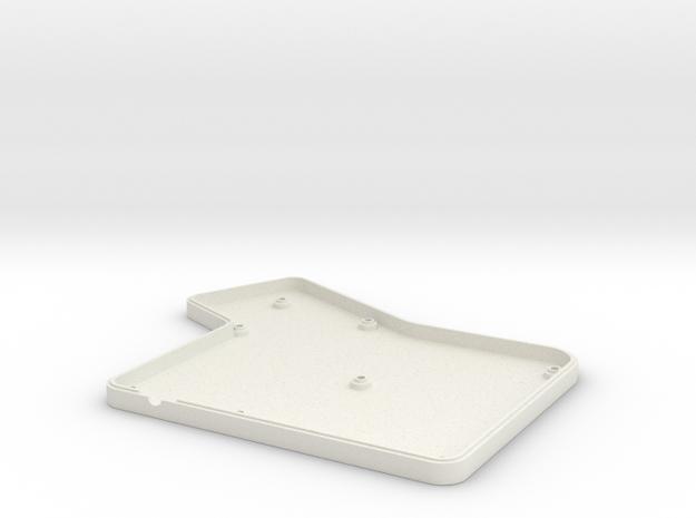 ErgoDox Bottom Left Case (flat) in White Natural Versatile Plastic