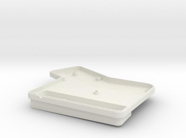 ErgoDox Bottom Left Case (single slope) in White Natural Versatile Plastic