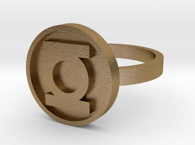 Green Lantern Corps Power Ring Version 1 - Size 7  3d printed