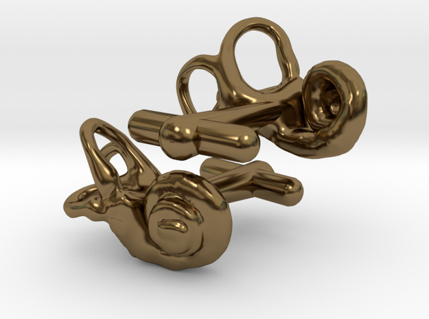 Inner Ear Cufflinks (Pair) 3d printed