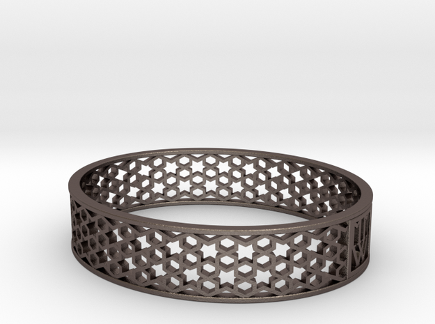 MMW MOROCCO BANGLE 15mm  medium in Stainless Steel