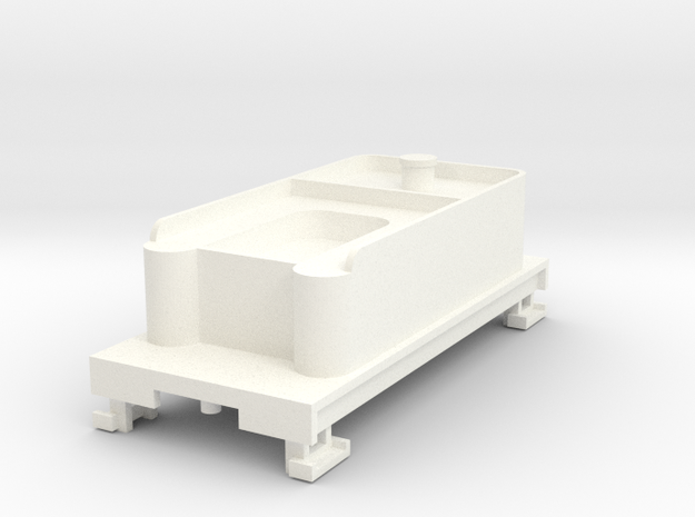 HOn30 Tender without trucks in White Strong & Flexible Polished