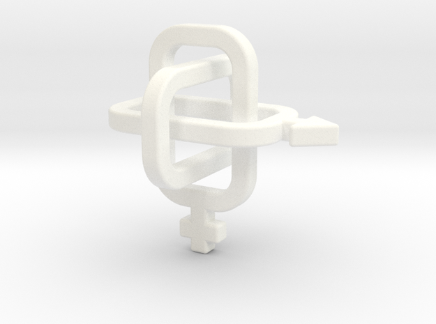 female/male Borromean rings 3d printed