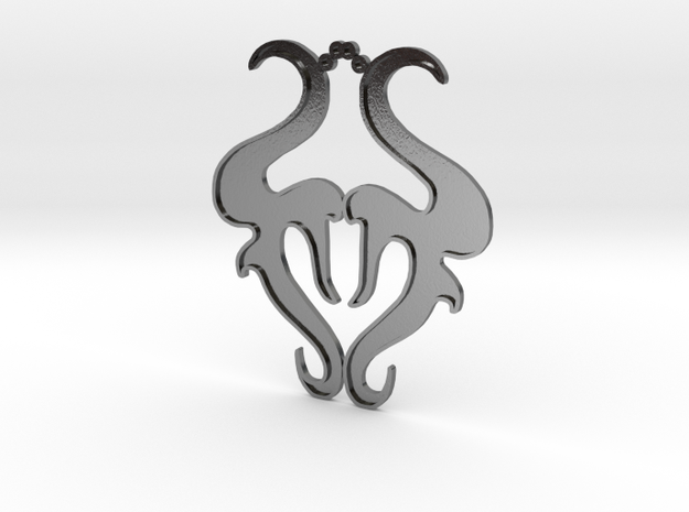 Tourus Pendant in Polished Silver