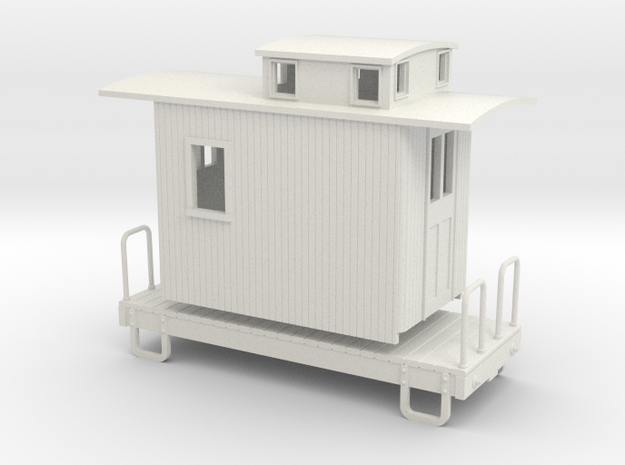55n9 13ft 4 wheeled caboose car - Round roof 3d printed