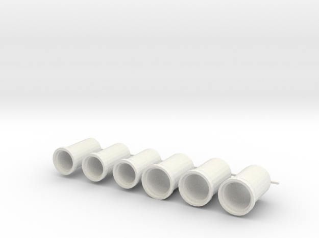 rioolbuis 1000 en 1250 mm, schaal 1:87 in White Natural Versatile Plastic
