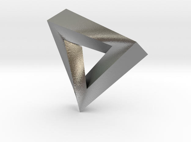 Impossible Pendant! 3d printed Raw Silver
