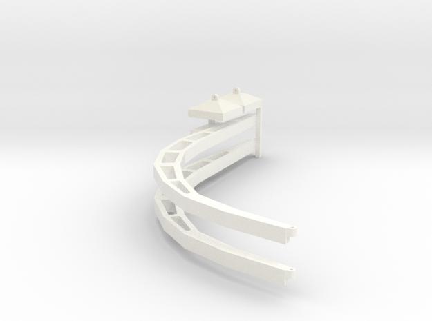 Gotische boog 1:87 beton in White Processed Versatile Plastic