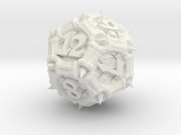 Dragon d12 in White Natural Versatile Plastic