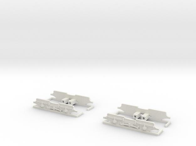 Drehgestellblenden für SRS TW 34 in White Natural Versatile Plastic