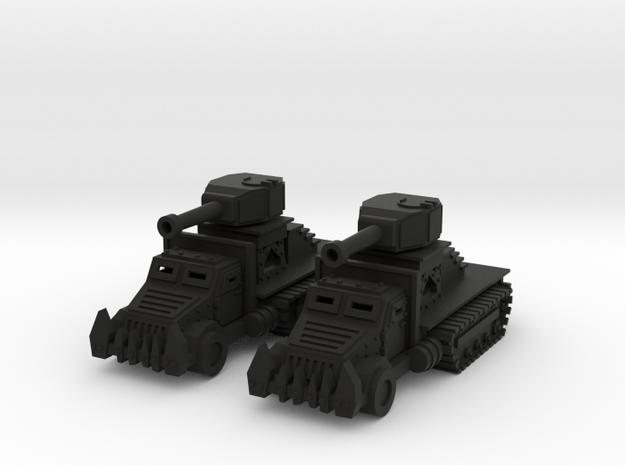 15mm Greenskin Gun Wagons (x2) 3d printed