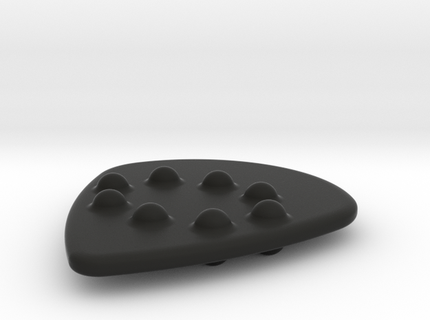 Jazz Style Thick Guitar Pick w/Dimples 3d printed