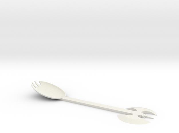 Sporkle Axe in White Natural Versatile Plastic