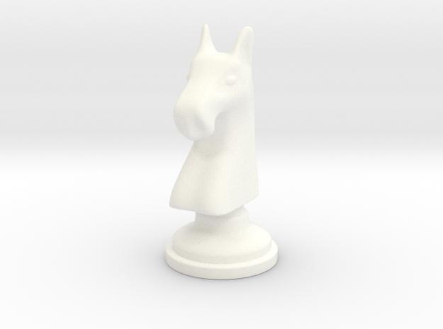 Chess figure - Horse in White Processed Versatile Plastic