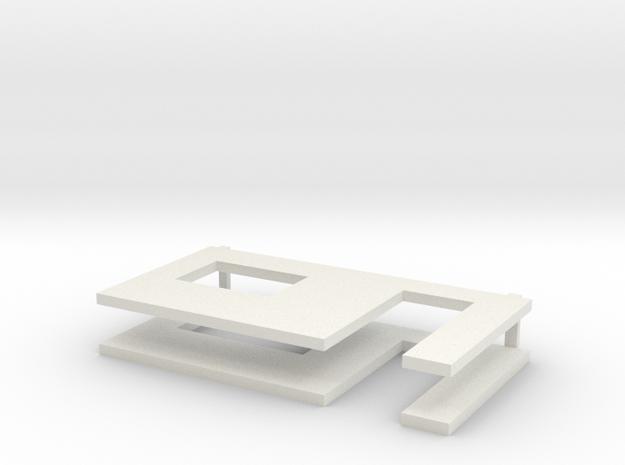 muren beton schaal 1:50 in White Natural Versatile Plastic