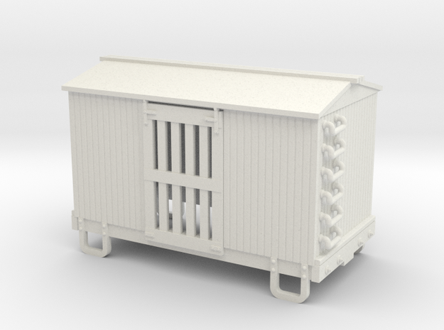 HOn30 13ft 4w ventilated box car in White Strong & Flexible