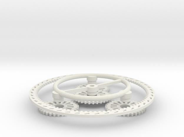 Planetary Gear Set in White Natural Versatile Plastic