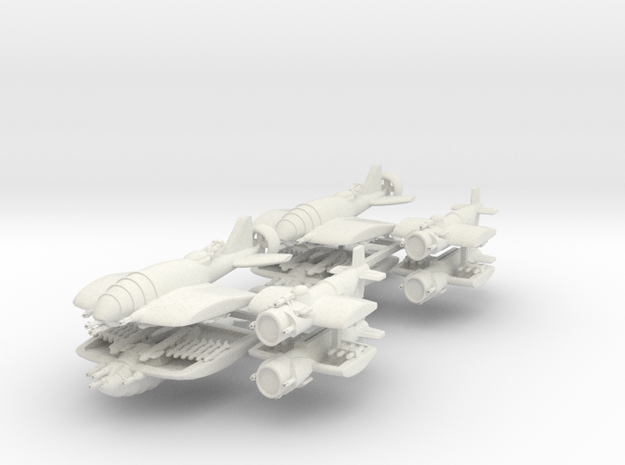 US Fighters Fleet (8 Ships) 6mm 3d printed